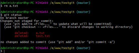 """删除 a.txt、test.txt"""
